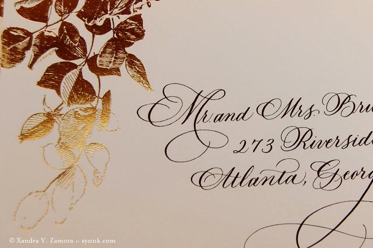 Calligraphy Xandra Y Zamora Calligraphy Design