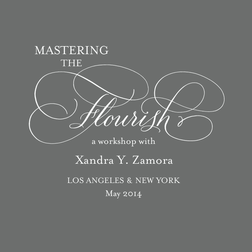 Mastering The Flourish A Calligraphy Workshop Xandra Y